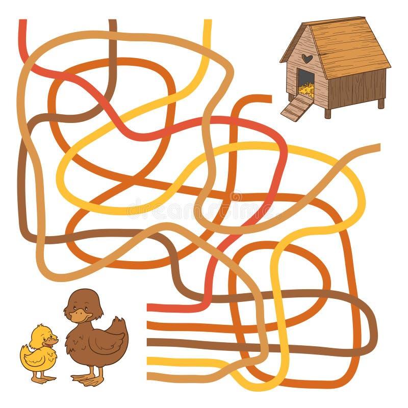 Labyrinthspiel lizenzfreie abbildung