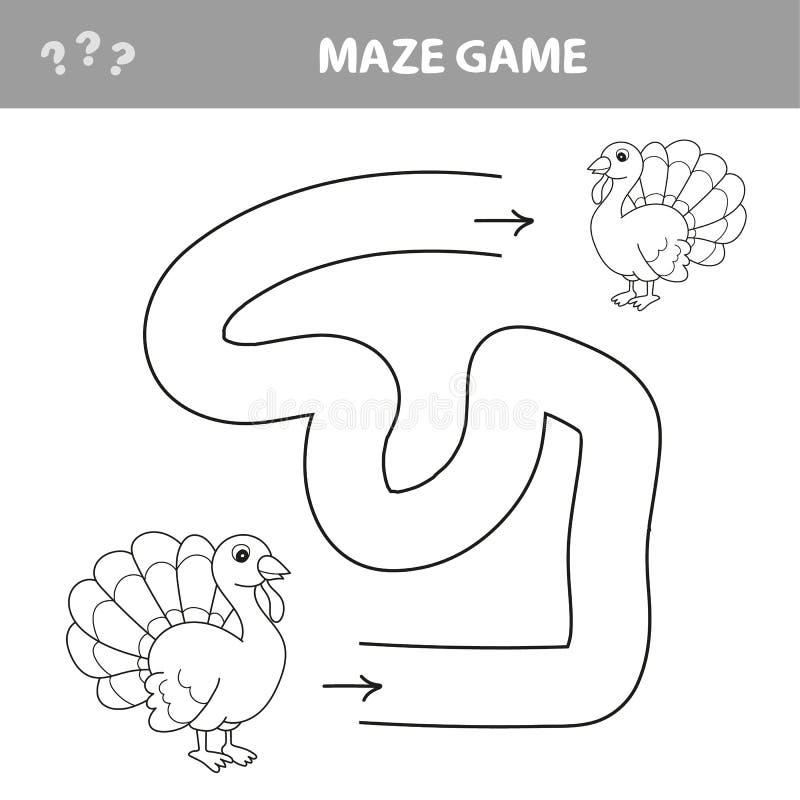 Labyrinthspiel, Bildungsspiel f?r Kinder, die T?rkei lizenzfreie abbildung