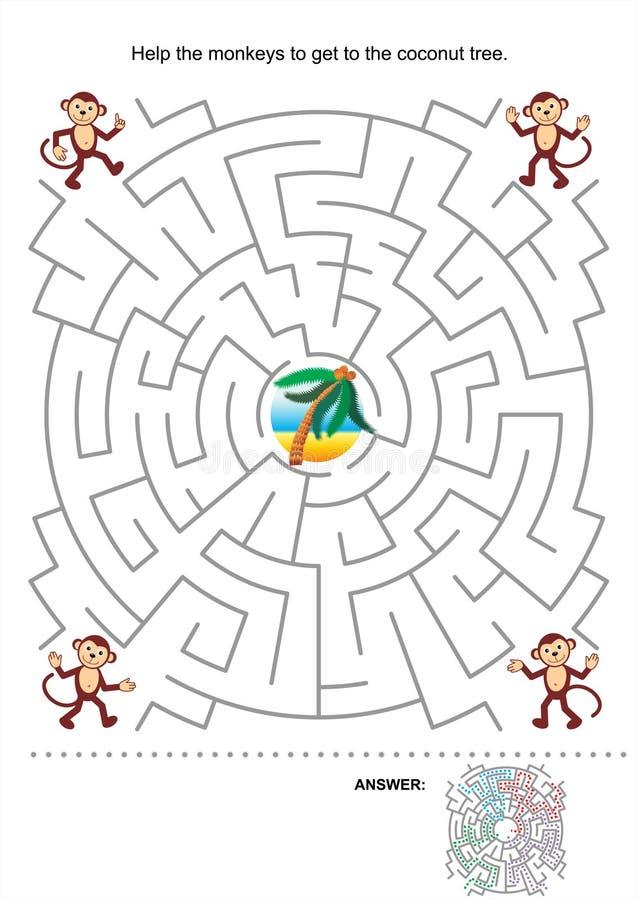 Labyrinthspiel für Kinder