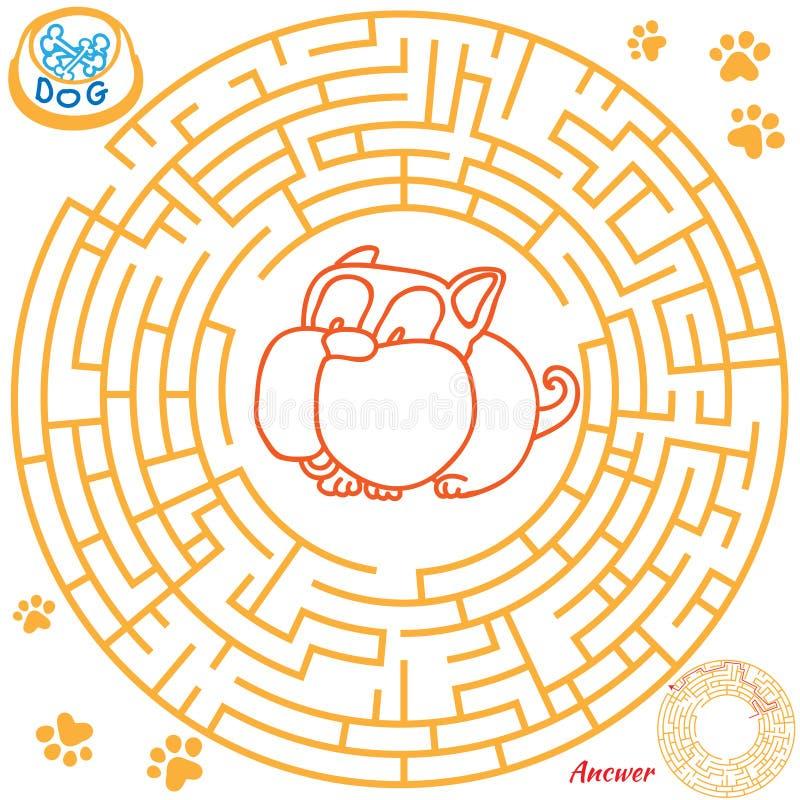 Labyrinthspiel für Kinder stock abbildung