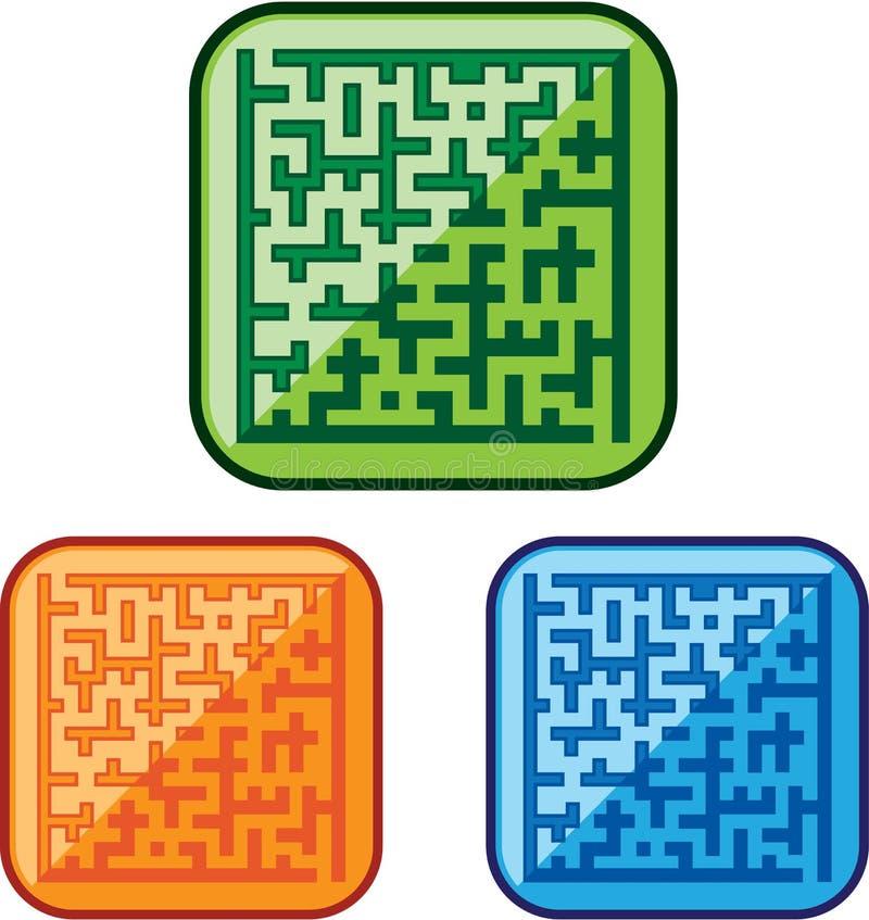 Labyrinthvektor stock abbildung