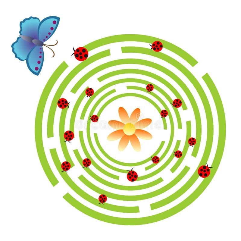 Labyrintlek royaltyfri illustrationer