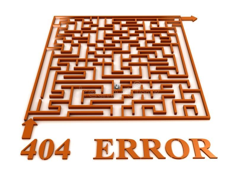 labyrintmaze för 404 fel royaltyfri illustrationer