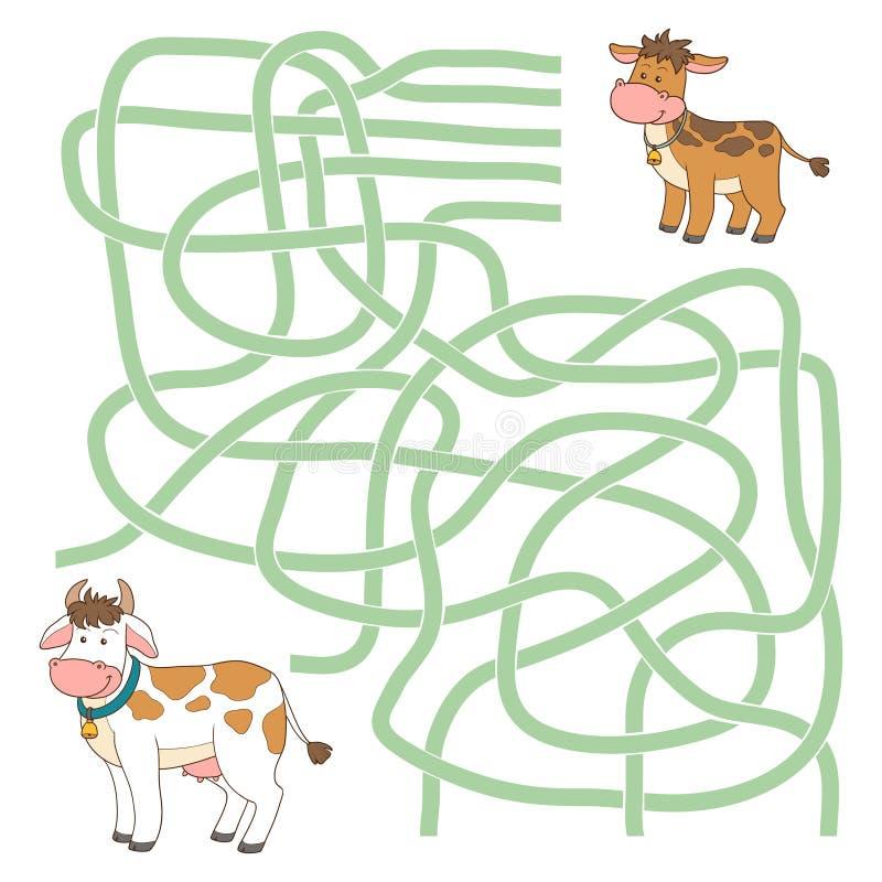 Labyrintspel vector illustratie