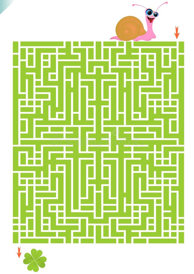 Labyrintspel stock illustratie