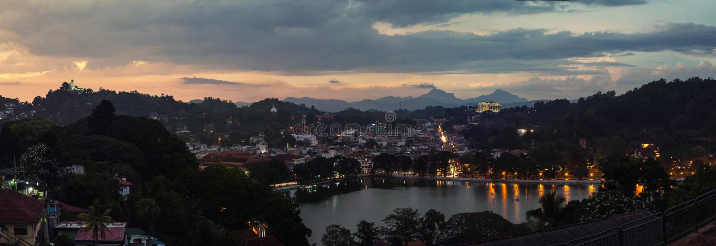Lac à Kandy, Sri Lanka photos libres de droits