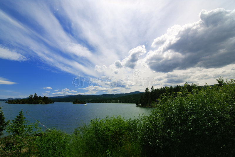lac à tête plate Montana photographie stock