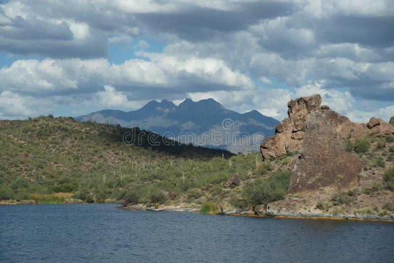 Lac 6 Saguaro photo libre de droits