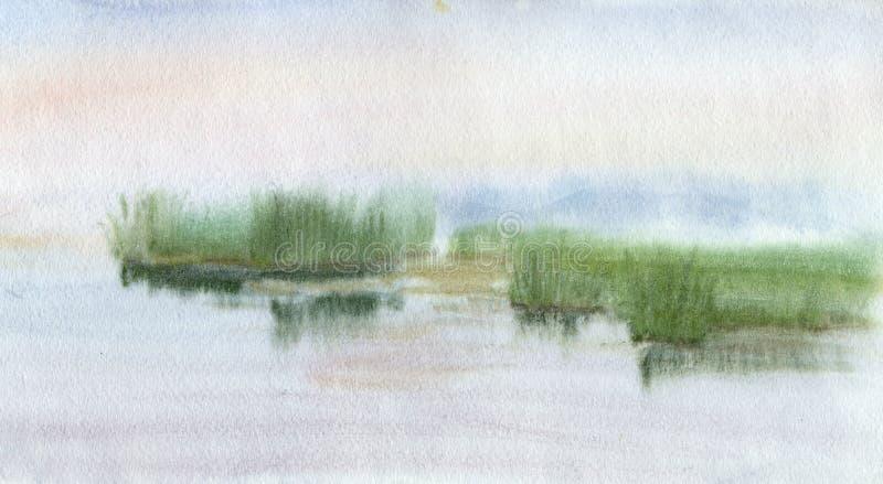 Lac illustration libre de droits