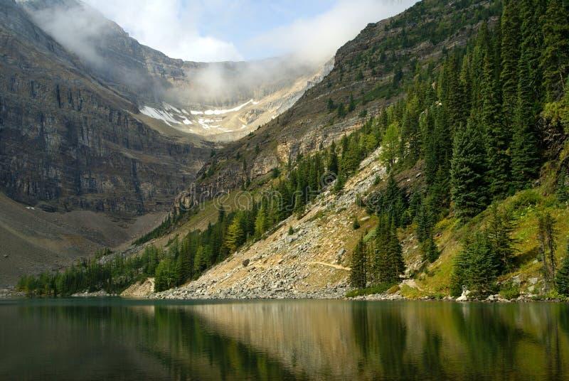 Lac Agnès en stationnement national de Banff photographie stock libre de droits