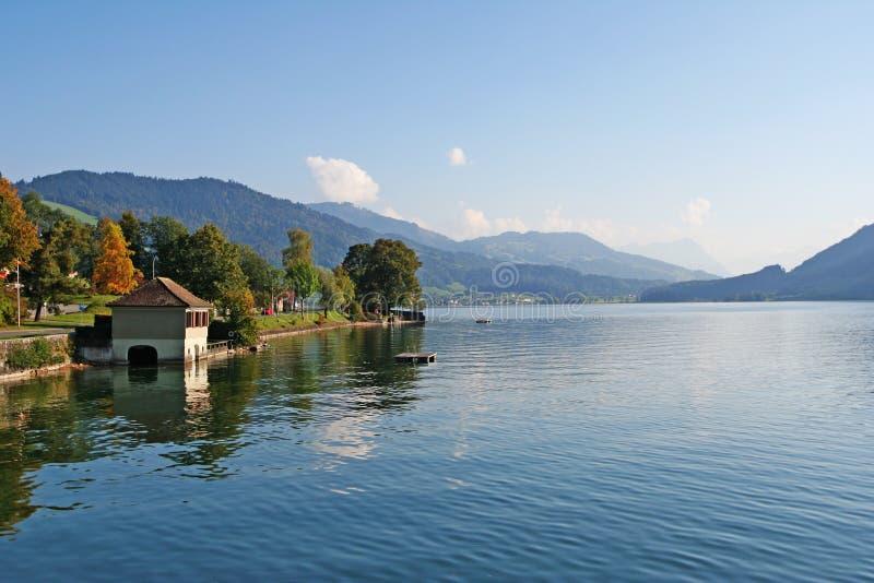 Lac alpestre summer, Suisse photos libres de droits