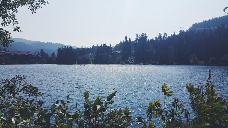 Lac alta, siffleur, Canada photographie stock