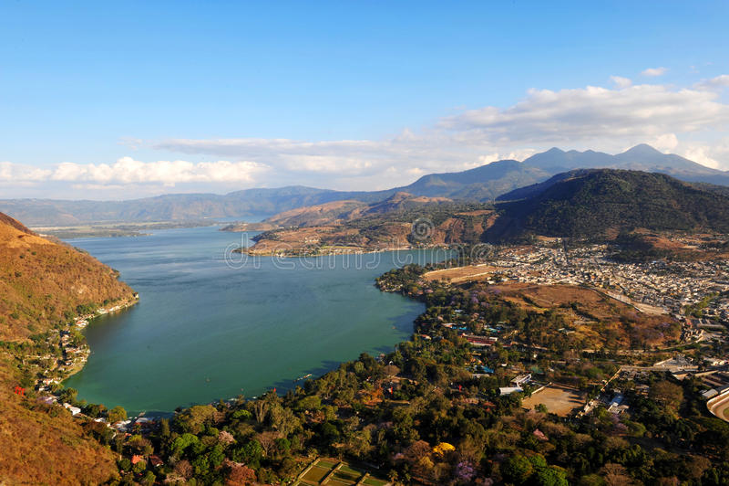 Lac Amatitlan photographie stock