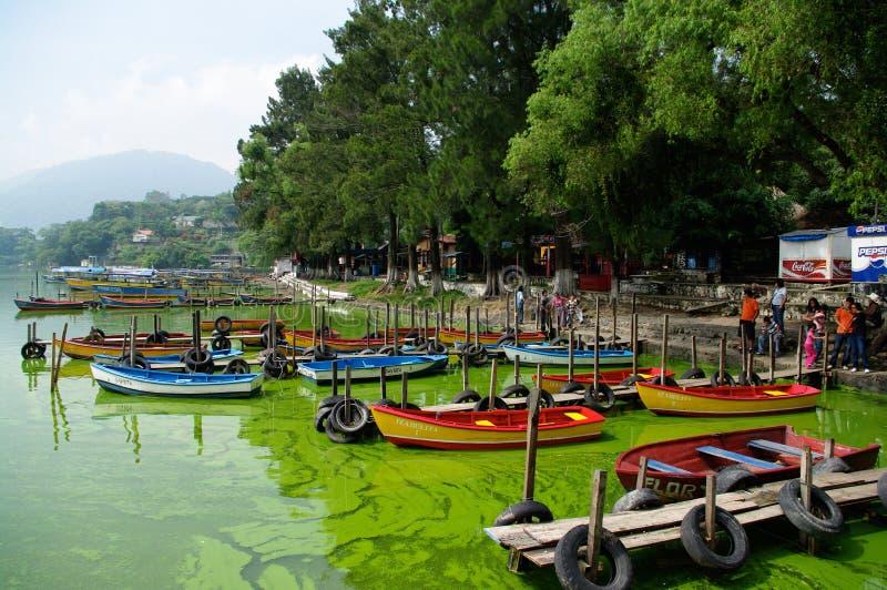 Lac Amatitlan image libre de droits