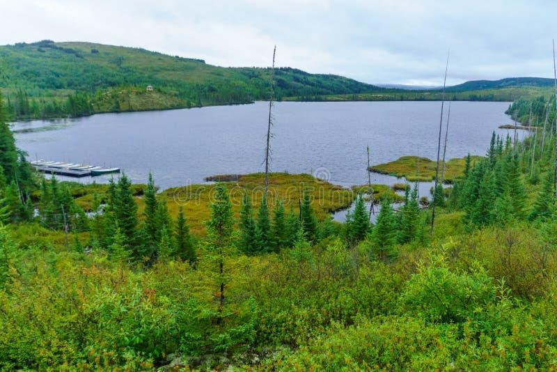 Lac Arthabaska, dans les grands-Jardins parc national, le Québec photos libres de droits