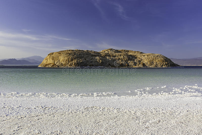 Lac Asal w Djibouti obrazy stock