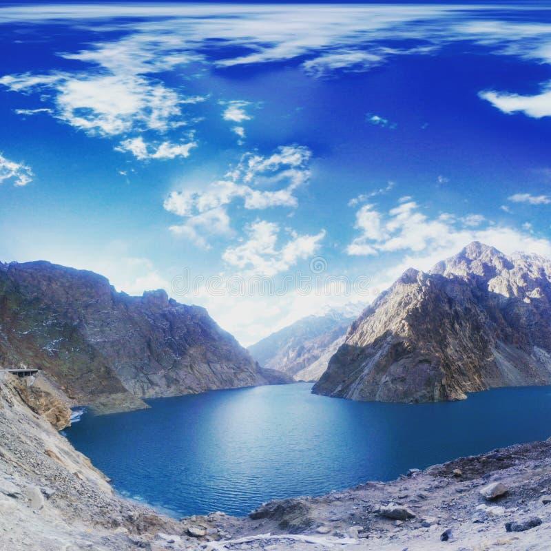 Lac Attabad photo libre de droits