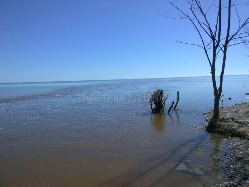 Lac au Michigan photographie stock libre de droits