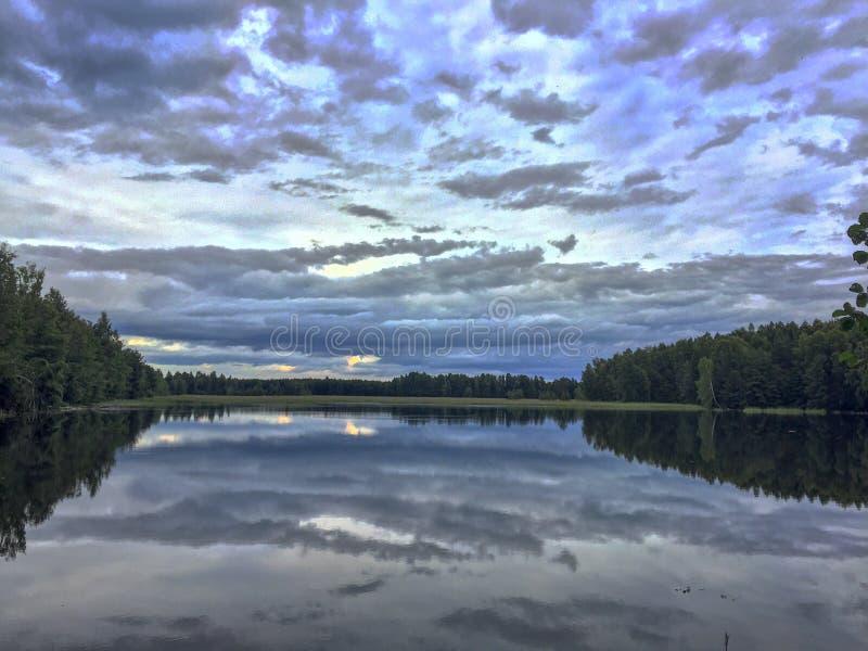 Lac autumn photographie stock