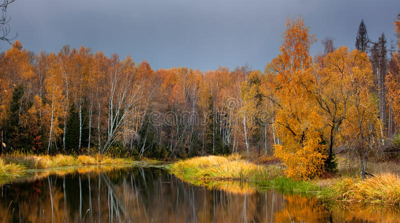 Lac autumn images stock
