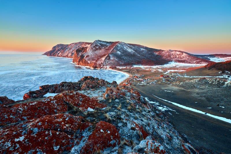 Lac Baikal en hiver photographie stock