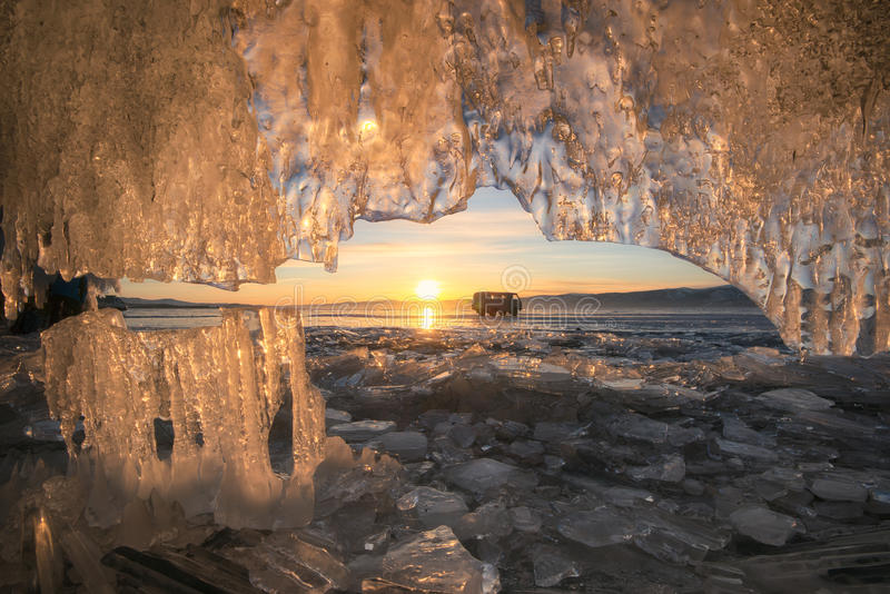 Lac Baikal figé photo libre de droits