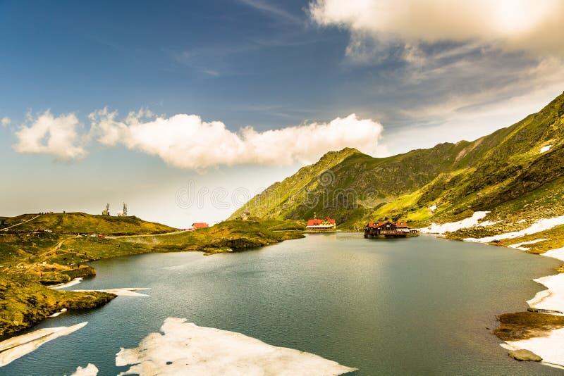 Lac Balea, Transfagarasan, Roumanie images stock