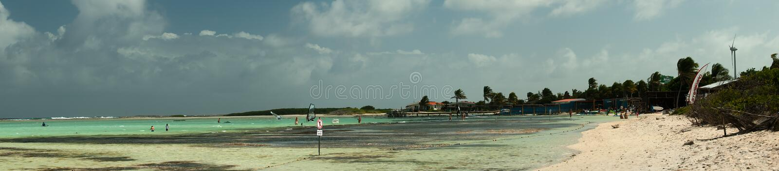 Lac Bay Sorobon Beach royalty free stock photos