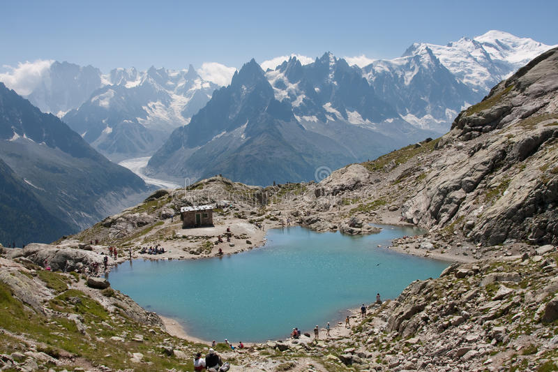 Lac Blanc Royalty Free Stock Photos