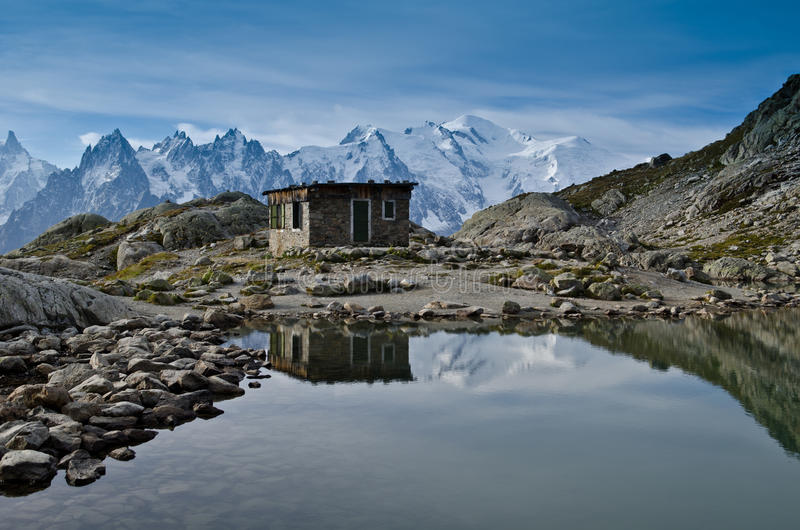 Lac Blanc - French Alps Stock Image