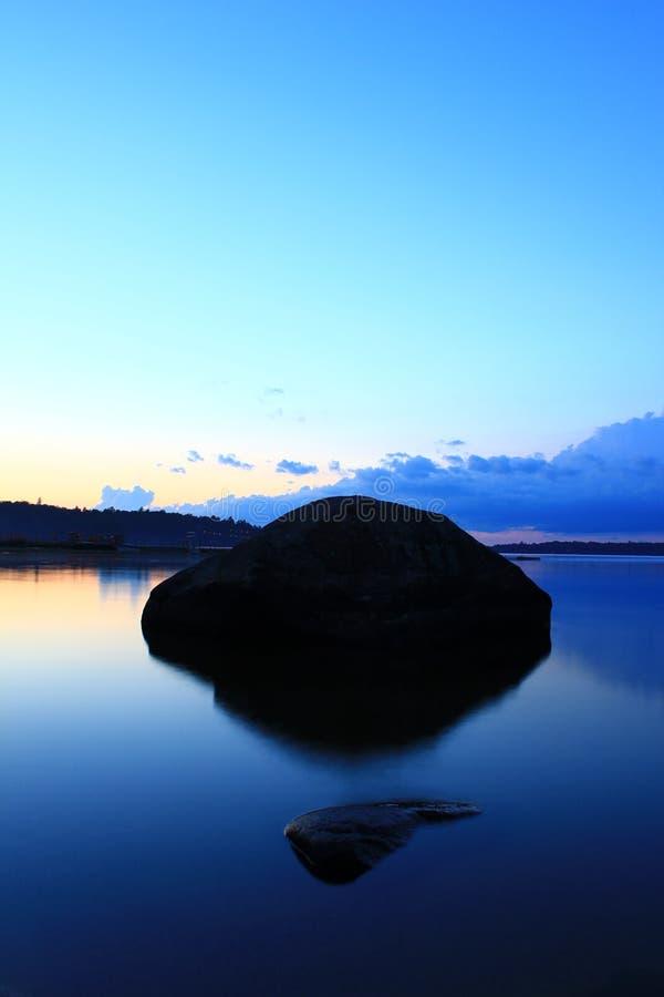 Lac bleu de paradis image stock
