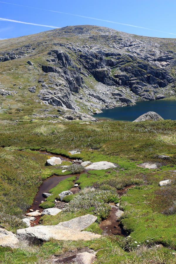 Lac bleu, parc national de Kosciuszko, Australie de NSW photo stock