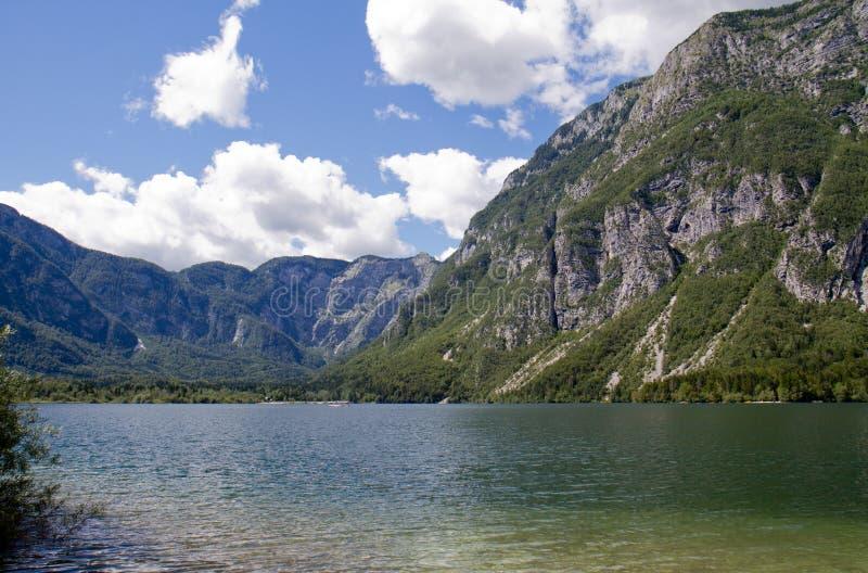 Lac Bohinj dans Solvenia photographie stock libre de droits