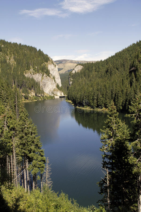 Lac Bolboci mountain images stock