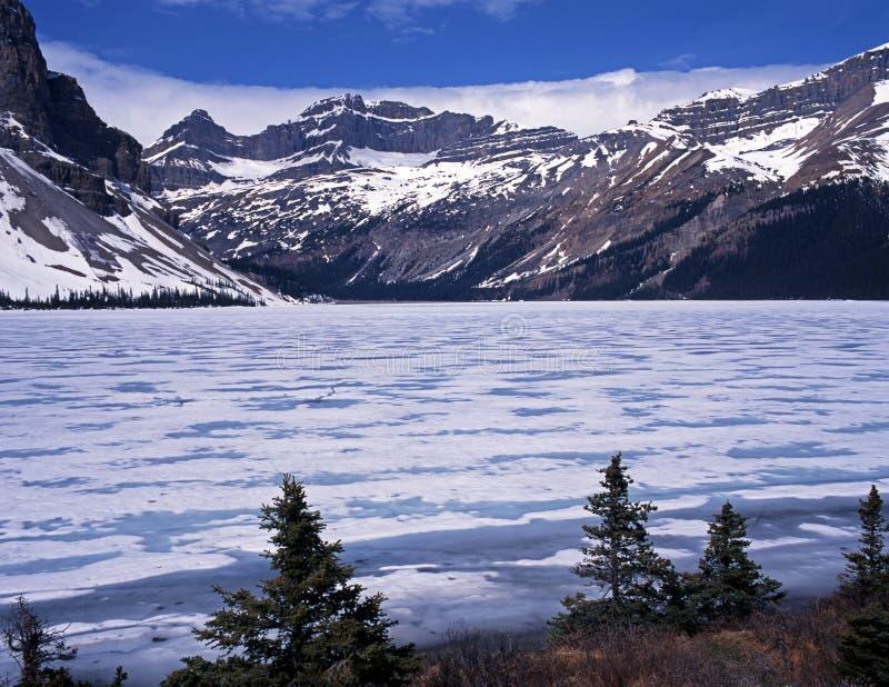 Lac bow, Alberta, Canada. photos libres de droits