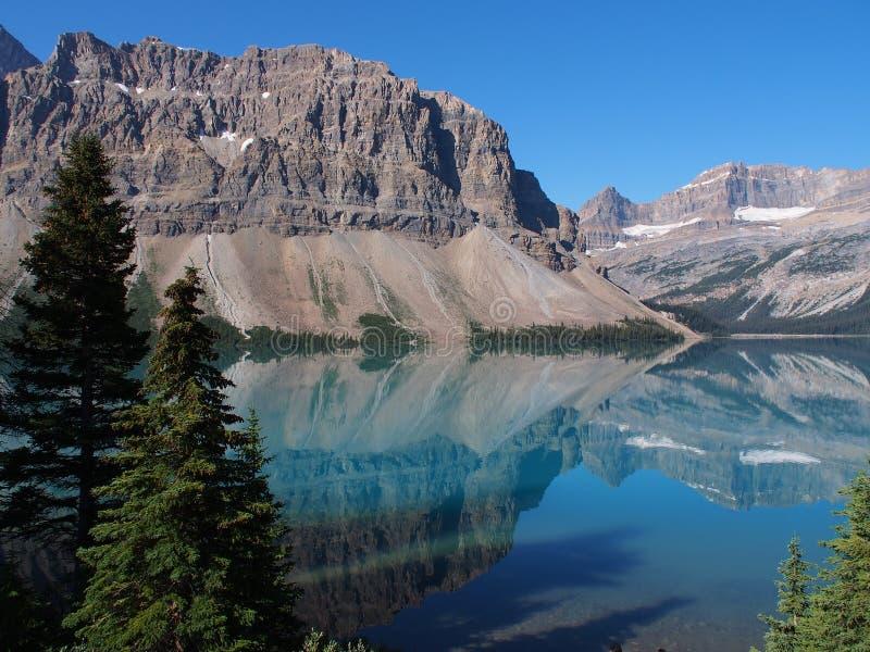Lac bow chez Jasper National Park photo libre de droits