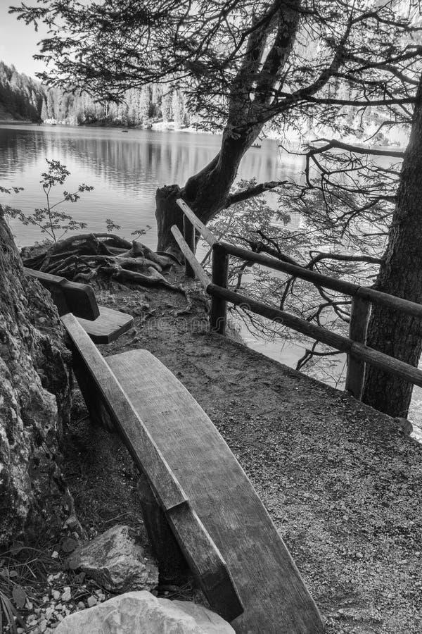 Lac Braies photographie stock libre de droits