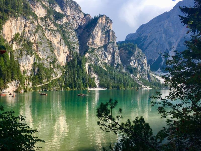 Lac Braies images libres de droits
