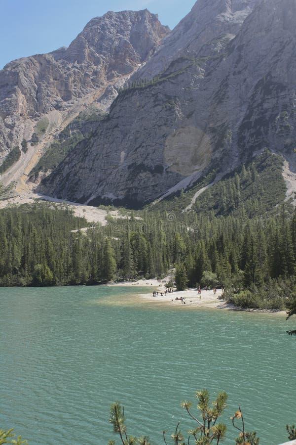 Lac Braies image stock