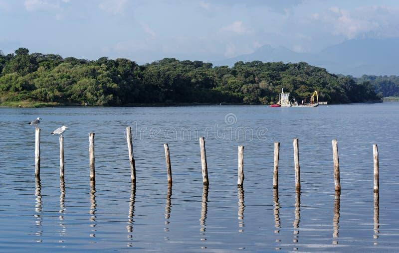 Lac côtier en Corse image libre de droits