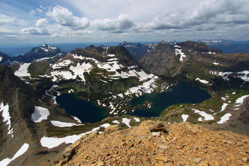 Lac caché - glacier NP image libre de droits