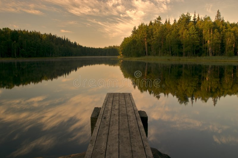 Lac calme images stock