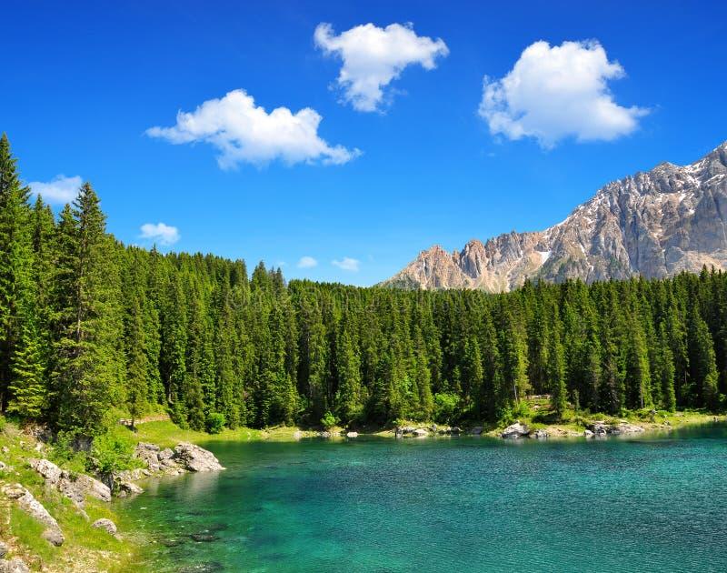 Lac Carezza - dolomites, Alpes, Italie photo libre de droits