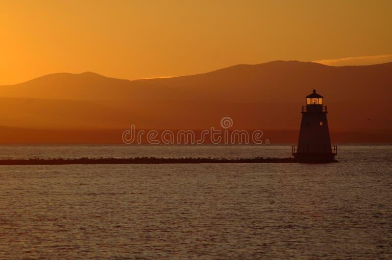 Lac Champlain sunset photographie stock libre de droits