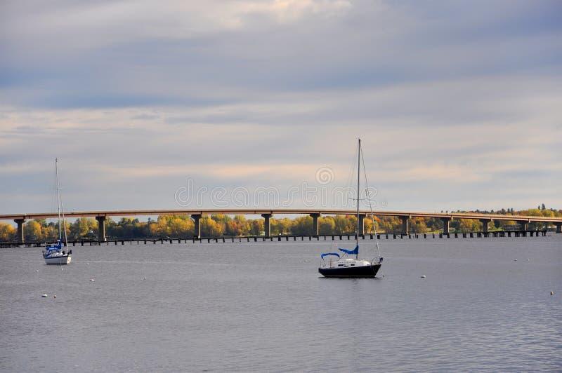 Lac Champlian dans l'automne, Vermont, Etats-Unis images libres de droits