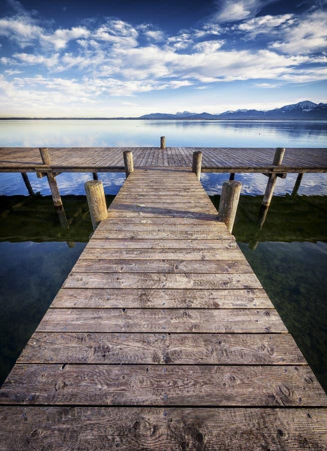 Lac Chiemsee photo libre de droits