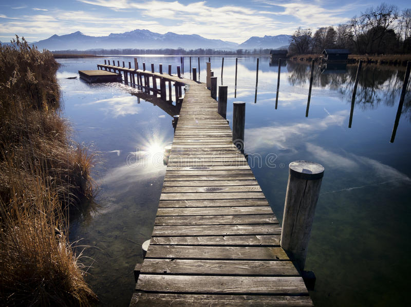 Lac Chiemsee images stock