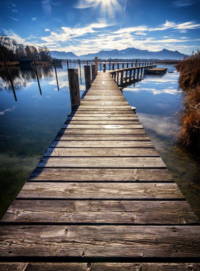 Lac Chiemsee image libre de droits