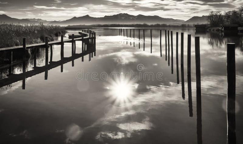 Lac Chiemsee images libres de droits