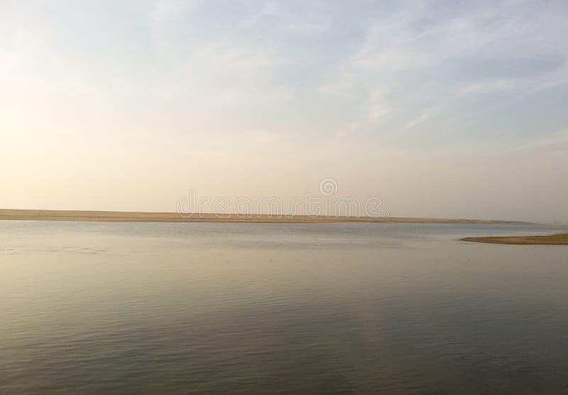 Lac Chilika l'identité de lac d'Odisha photographie stock